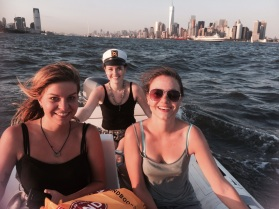 On a boat in NYC